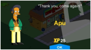 The Simpsons Tapped Out Apu Unlock Message