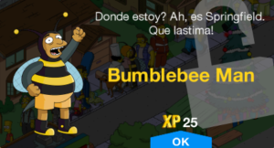 bumblebee man character unlock message