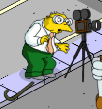 tsto hans moleman getting hit with a football
