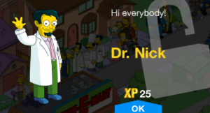 Tapped_Out_Dr._Nick_unlock message
