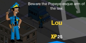 The Simpsons Tapped Out Level 33 Lou