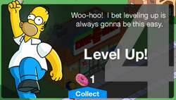 The Simpsons Tapped Out Level 4 Unlock Message