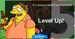 The Simpsons Tapped Out Level 5 Unlock Message