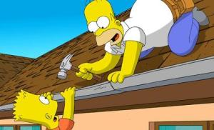 A still from The Simpsons Movie.