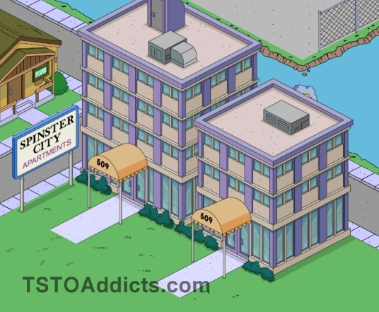 Spinster Apartments. Bachelorarms_menu.  Thesimpsonstappedoutkrabappelsapartment