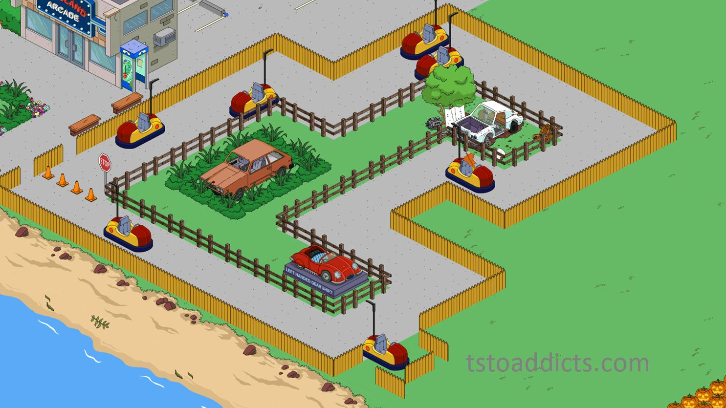 3d Bumper Cars Kinda The Simpsons Tapped Out Addictsall Things The