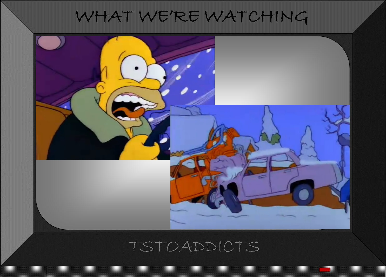 Homer Watching Car Accidents