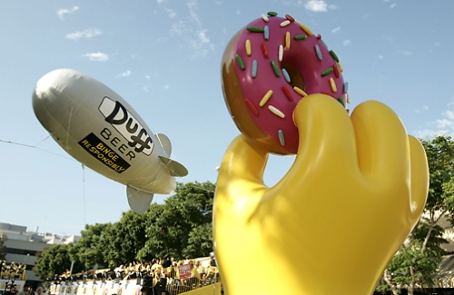 Duff Blimp Simpsons Premiere