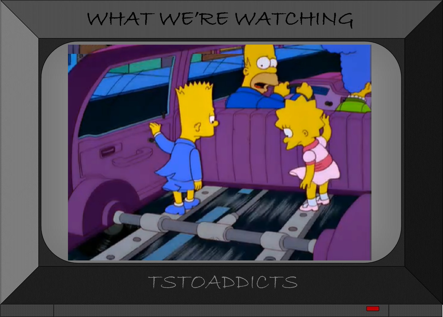 Simpsons Car Back Seat