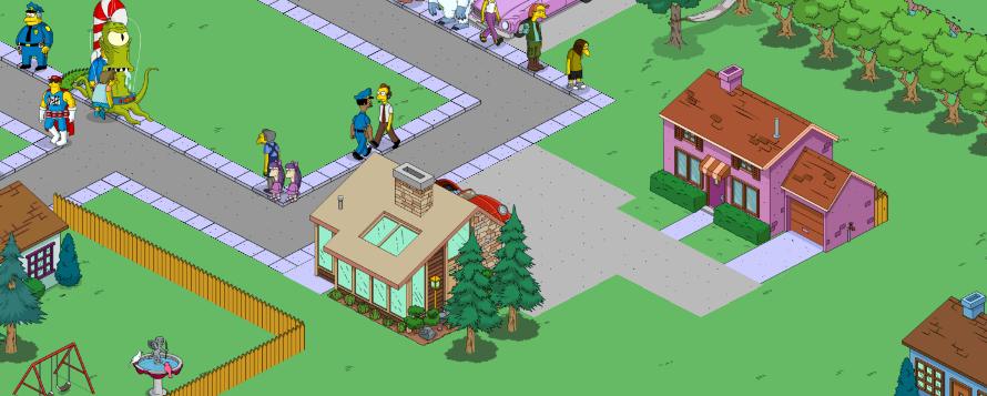 Simple town designs residential neighborhoodsthe simpsons for Little island design