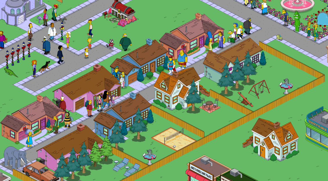 Simple Town Designs Residential Neighborhoodsthe Simpsons