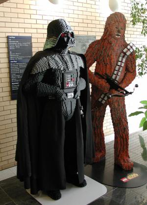 LEGO Vader and Chewie
