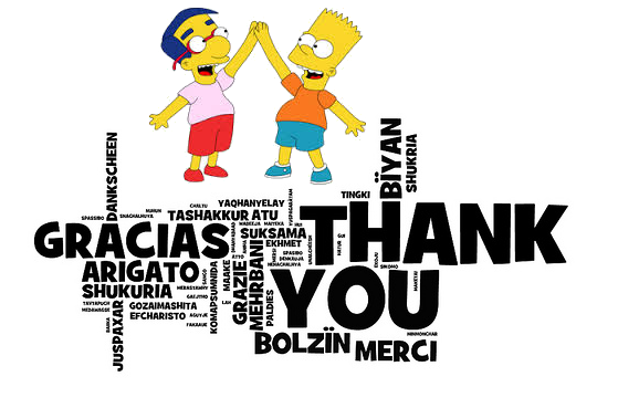 Thank You Thank You From Me To You The Simpsons Tapped Out