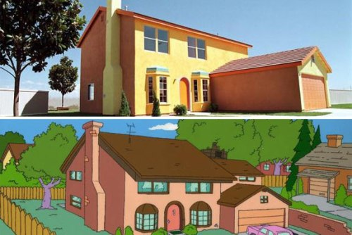 real life simpsons house