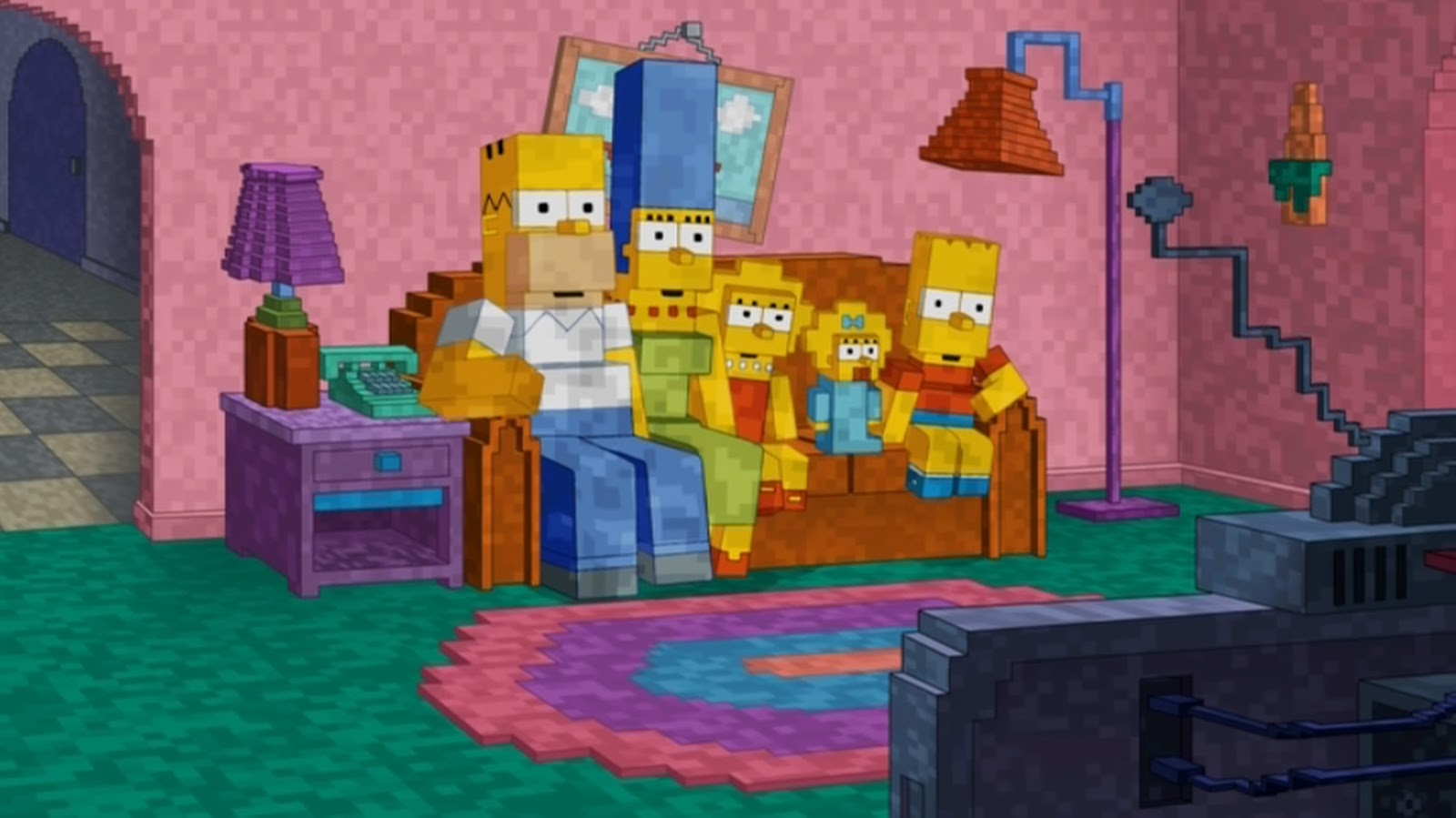 Simpsons Minecraft Couch Gag on Best Anniversary Ts Parents
