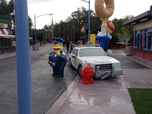 Wiggum Crashed Car