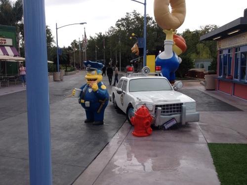 Wiggum Crashed Car
