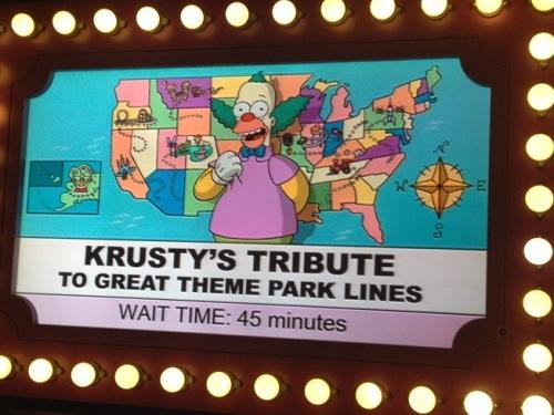 Krusty's Theme Park Line Ride Krustyland