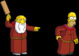 Homer get paddled by Jasper