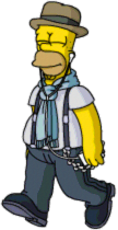 Cool Homer listen to indie rock