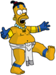 Mayan Homer perform dance