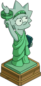 Tapped_Out_Lisa_statue