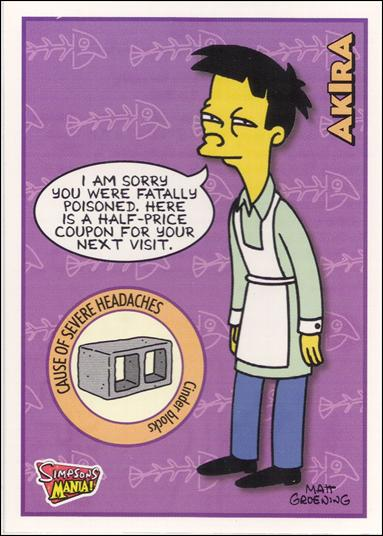 Akira Simpsons Mania Card