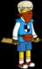 Blue nerd Rogue