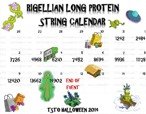 Rigellian Long Protein String Calendar