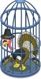 Caged Tom Turkey