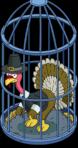 Caged Tom Turkey