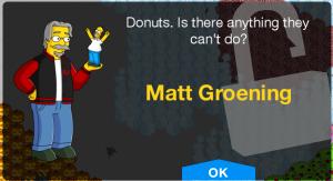 Mat Groening Unlock Screen