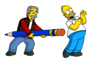 Matt Trying to Erase Homer