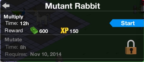 Mutant Rabbit Mutate Task Locked