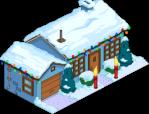 Blue house Christmas Decorations