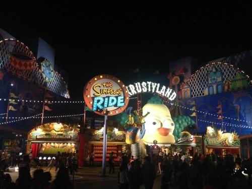Krustyland at Night