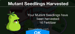 Mutant Seedlings Harvested Fertilizer