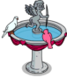 Cherub Bird Bath image