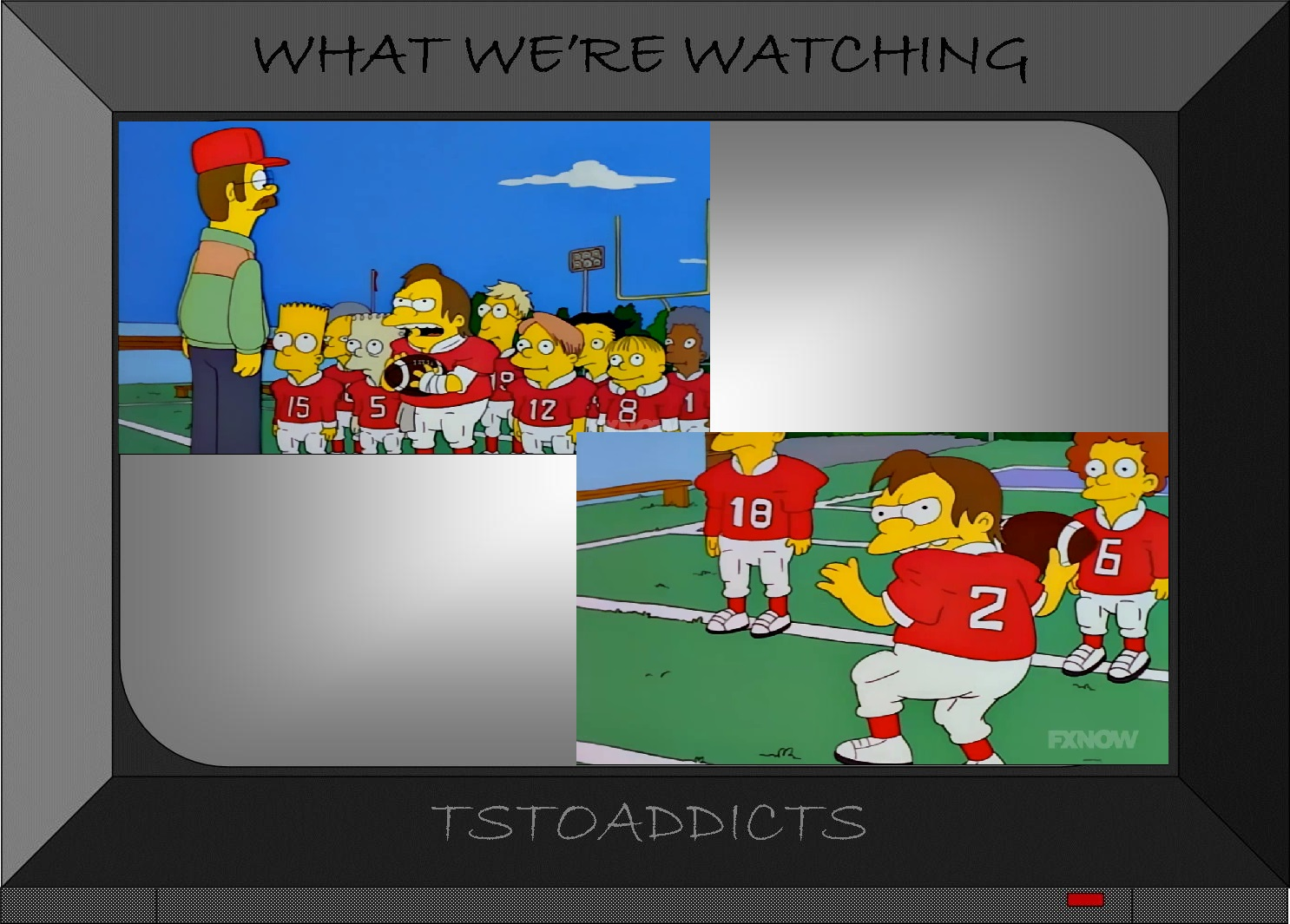 where did that come from sportacus football nelsonthe simpsons