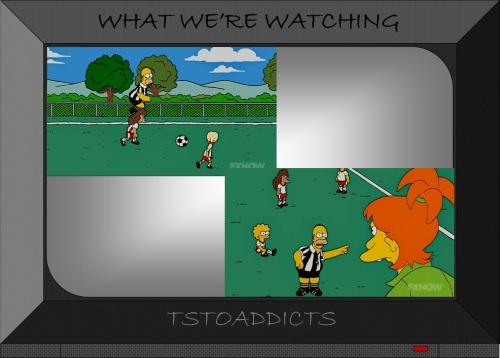 Homer & Lisa Simpsons Soccer Referee 2