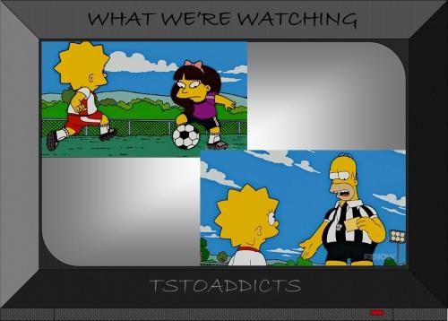 Homer & Lisa Simpsons Soccer Referee 3
