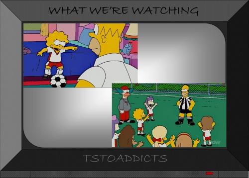 Homer & Lisa Simpsons Soccer Referee