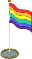Rainbow Flag Pole 2