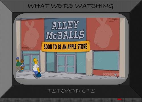 Alley McBalls Apple Store Simpsons