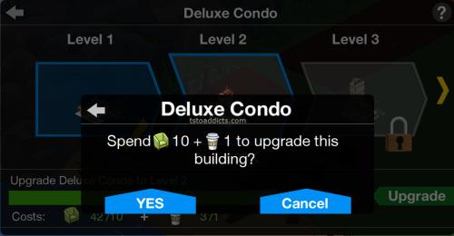 Deluxe Condo Use Materials Confirmation