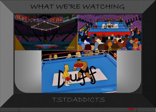 Drederick Tatum vs Homer Simpson boxing ring