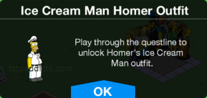 Ice Cream Man Homer Outfit Pop Up