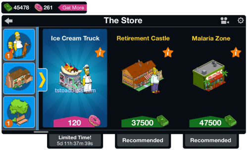 Ice Cream Truck Main Menu