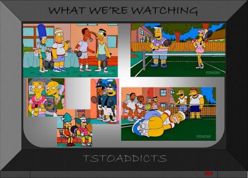 Springfield Plays Tennis Simpsons