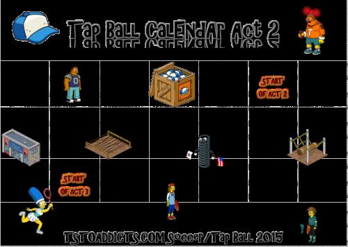 Tap Ball 2015 Act Two Calendar